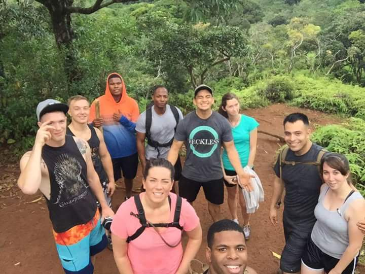 Group photo on a hike in Hawaii
