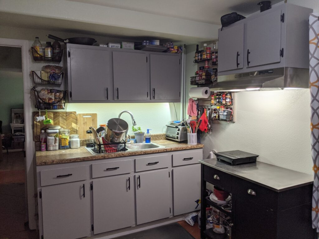Freshly painted kitchen and new kitchen cabinets